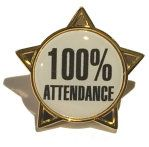 100% ATTENDANCE - STAR Lapel Badge