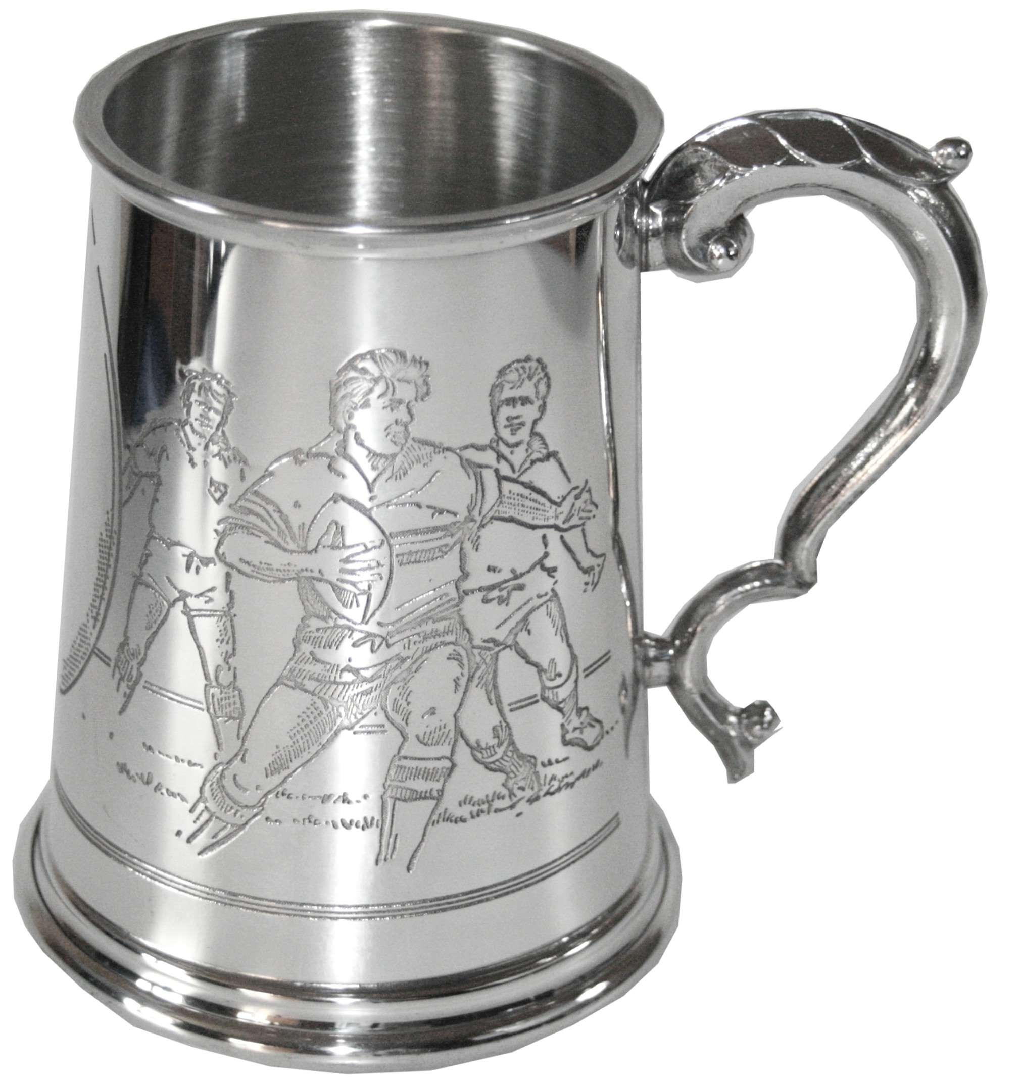 1pt Rugby Pewter Tankard