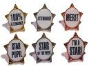 Stock School Badges STAR shape